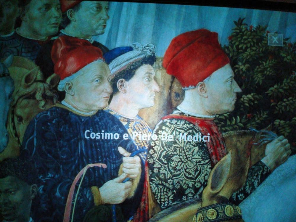 Cosimo and Piero de' Medici, from Benozzo Gozzoli's Procession of the Kings, Cappella dei Magi.