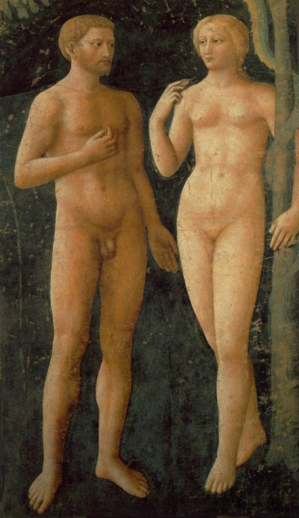 Masolino, The Temptation of Adam and Eve in Brancacci Chapel, Florence