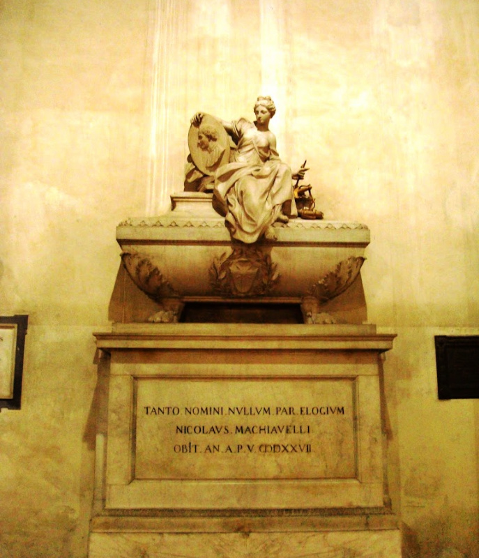 Machiavelli's tomb in Santa Croce, Florence