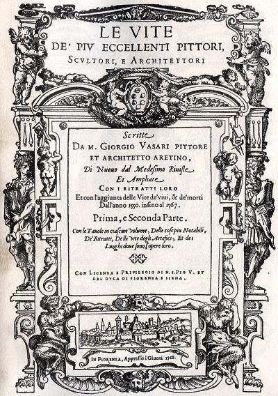 Cover Giorgio Vasari, Vite