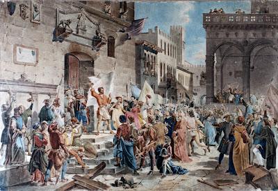 Ciompi revolutie in Florence Giuseppe Lorenzo Gatteri