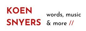 Koen Snyers / words, music & more