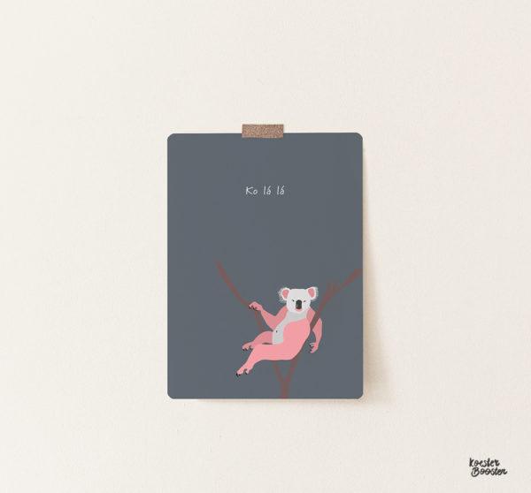 ansichtkaart shop studio koester booster koala