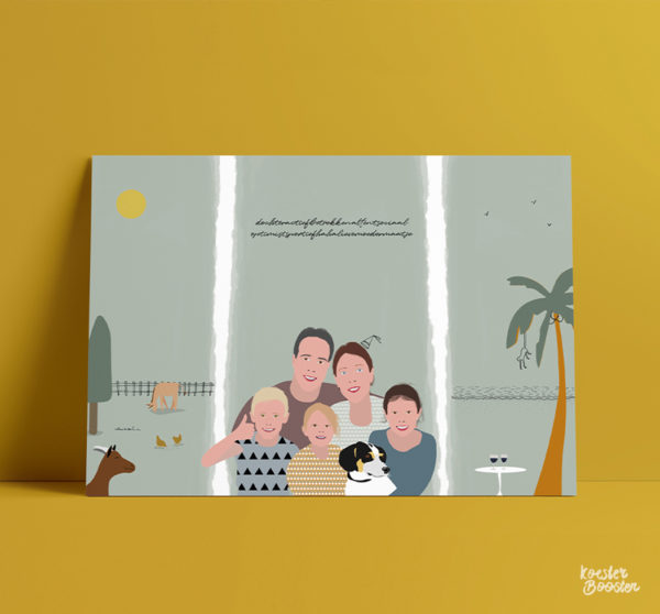 voorbeeld familieportret studio koester booster