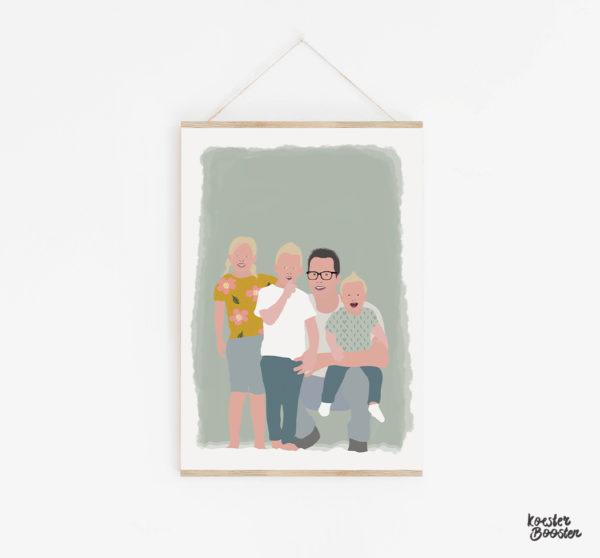 voorbeeld portret poster gezin studio koester booster