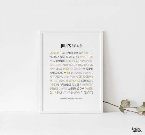 woorden poster uniek studio koester booster