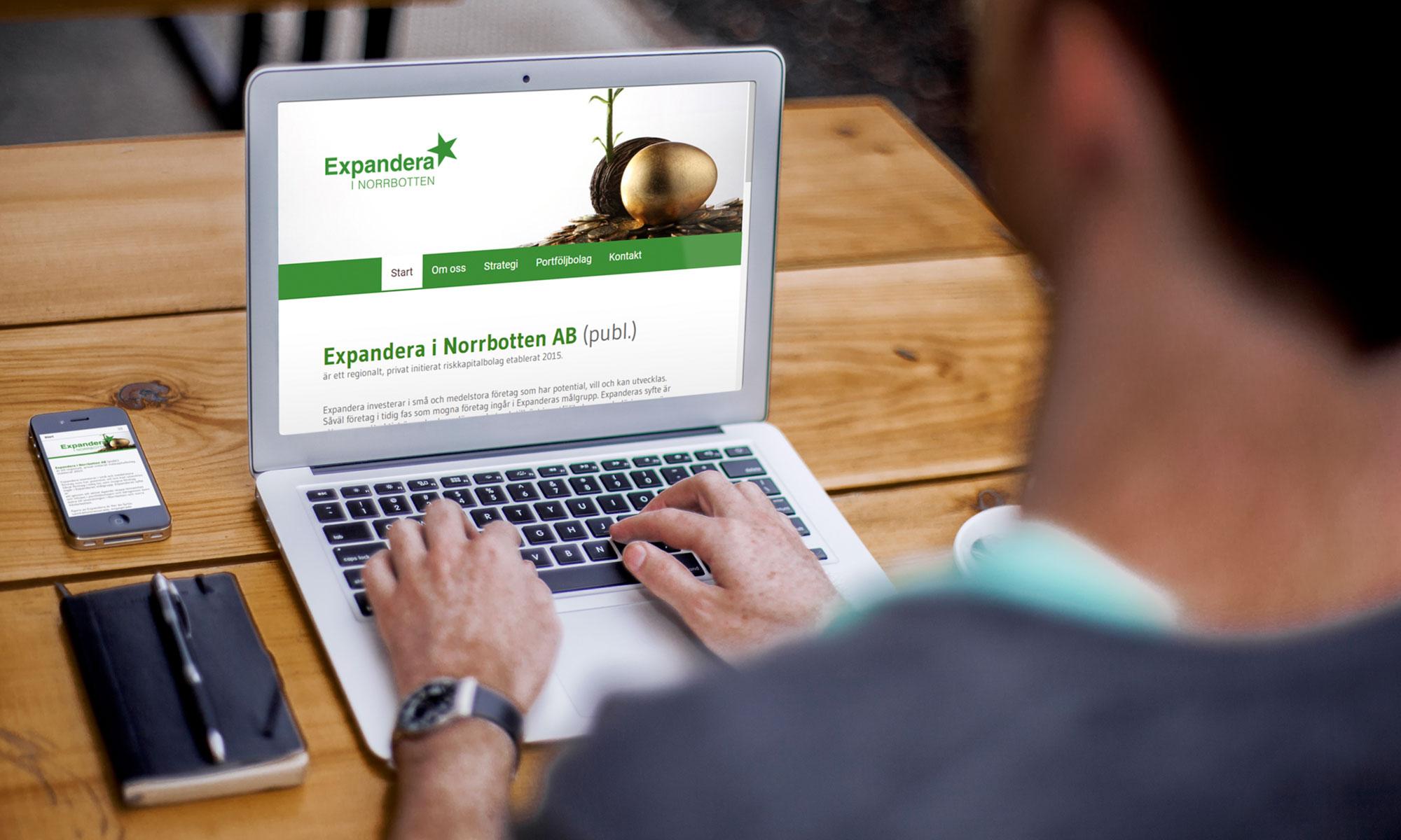 Expandera hemsida på laptop och mobil, design av kogit design