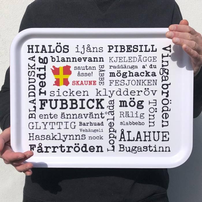 Skånebricka skånska dialekt skånska ord från Kokkolit på Limhamn