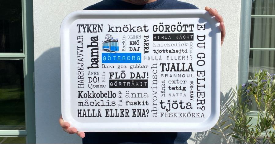 Göteborg bricka fylld med mustig göteborgska