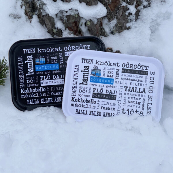 Göteborgska frukostbrickor i snö