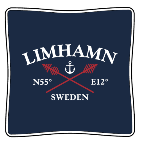 Limhamnskudde marinblå Limhamn kuddfodral