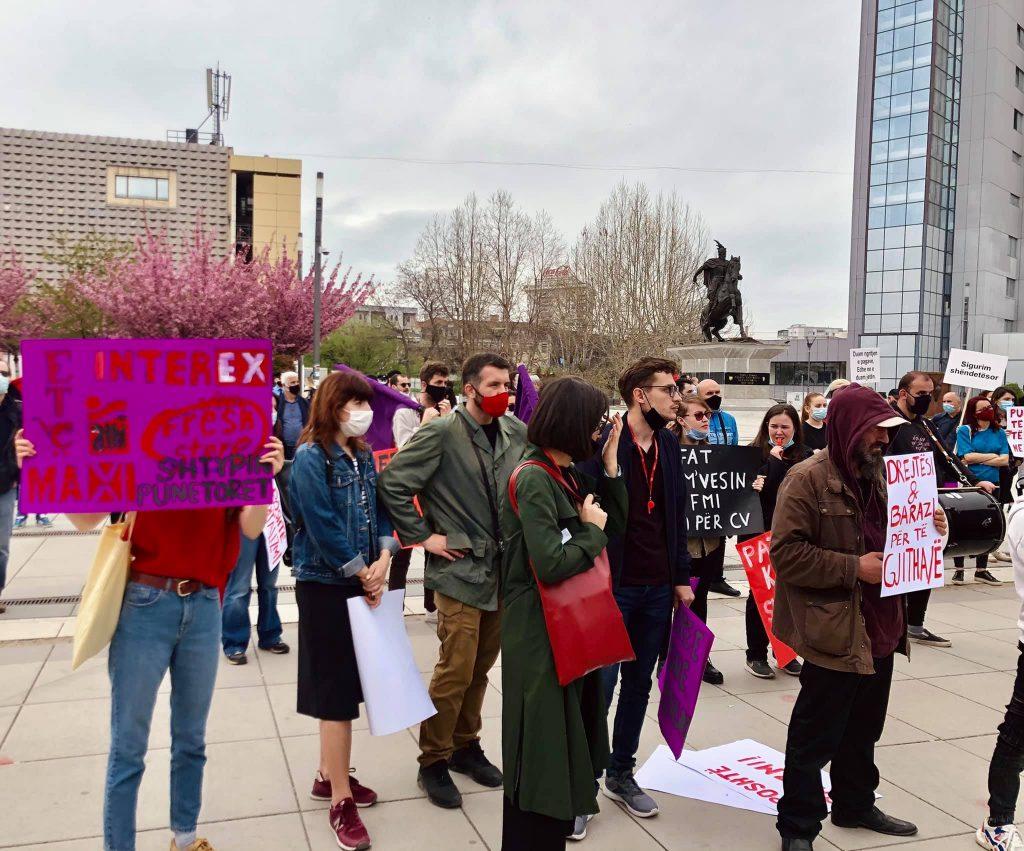 Protestë: Punëtore e punëtorë të bashkuar kundër shtypjes - 1 maj 2021