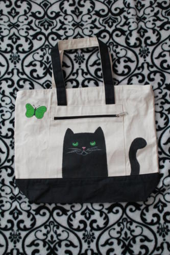 Painting on tote bag
