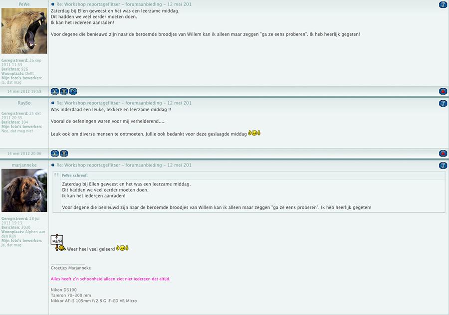 Reactie-forum