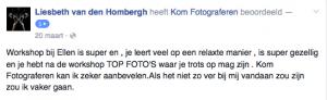 Recensie voor KOM FOTOGRAFEREN via Facebook