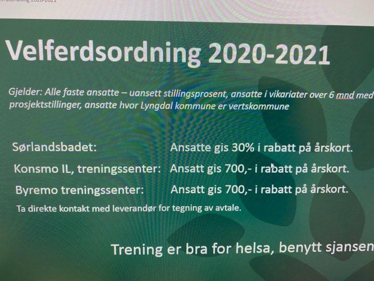 Velferdsordning 2020-2021