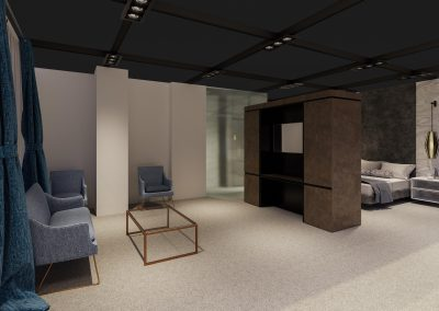 bespoke hotel renders for interior designing of a guest bedroom