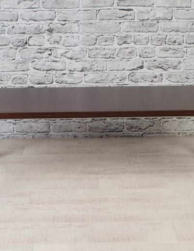 Wooden table with metal legs for hospitality