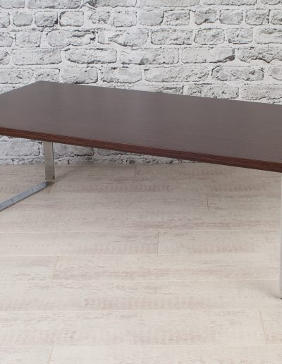 Wooden table for hospitality