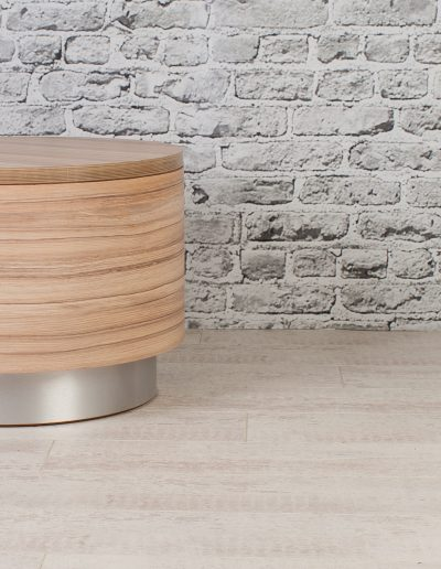 Karumi Drum Table - wood furniture for cafes and restaurants