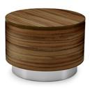 Drum wooden table in walnut