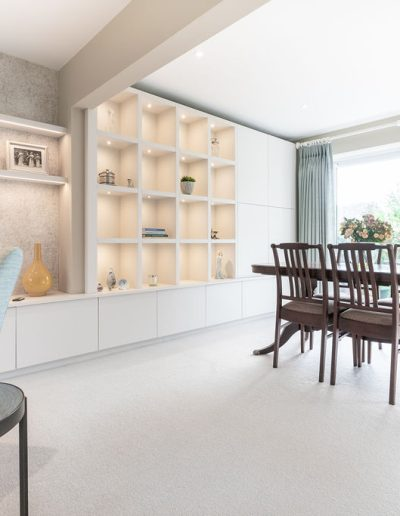 Dining area in new living room design - Koubou Interiors