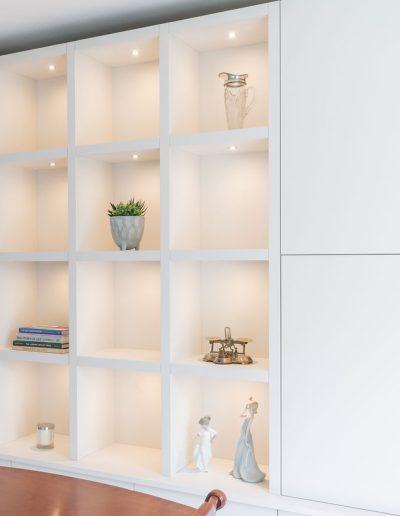 Bespoke shelves, with storage - Koubou Interiors