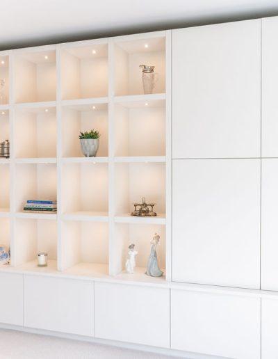 Bespoke shelves installed in Berkshire