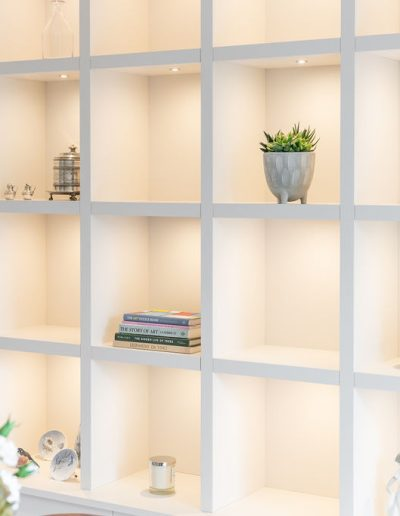 Bespoke shelves for living room - Koubou Interiors