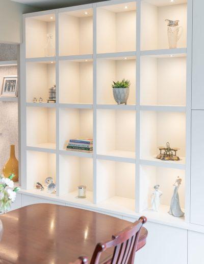 Bespoke shelves created for a living room redesign - Koubou Interiors