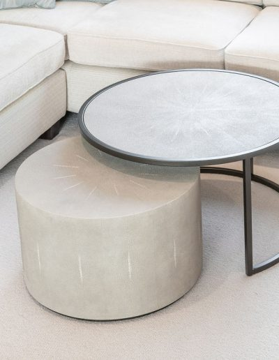 Custom footstall and table design - living room interiors with Koubou Interiors