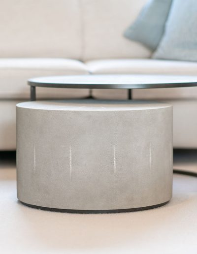 bespoke coffee table and footstall