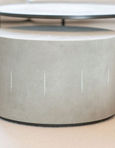 Integrated footstall and coffee table design - Koubou Interiors