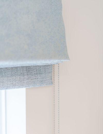 Bespoke blinds in duck egg blue