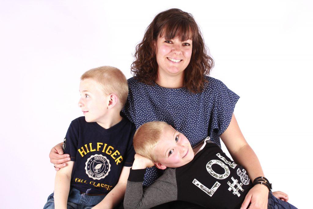 Familiefotografering af mig og mine to drenge