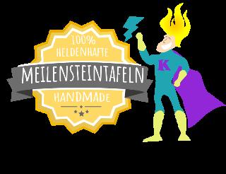 Meielnsteintafel Chalkboard Personalisiert Handmade Siegel 3