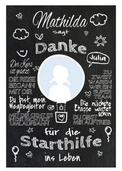 Meilensteintafel Abschiedsgeschenk Für Tagesmutter Geschenk Erzieherin Personalisiert Junge Mädchen Ballon