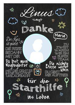 Meilensteintafel Abschiedsgeschenk Für Tagesmutter Geschenk Erzieherin Personalisiert Junge Mädchen Ballon Bunt