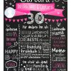 Meilensteintafel Chalkboard 30. Geburtstag Geschenk Personalisiert Geburtstagstafel Frau Mann Pink Klassik Foto.docx