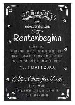Meilensteintafel Chalkboard Ruhestand Rente Geschenk Personalisiert Kreidetafel Abschiedsgeschenk 2
