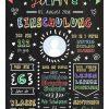 Meilensteintafel Chalkboards Geschenk Zur Einschulung Personalisiert Klassik Junge