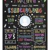 Meilensteintafel Chalkboards Geschenk Zur Einschulung Personalisiert Klassik Mädchen