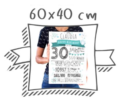 Meilensteintafel Chalkboards Kreidetafel Format 60x40