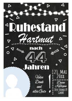 Meilensteintafel Geschenk Zur Rente Ruhestand Personalisiert Chalkboard Mann Frau Lights 2