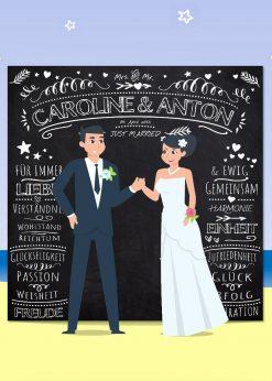 Meilensteintafel Wedding Backdrop Hochzeit Hintergrund Chalkboard Personalisiert V4 2 White Pb