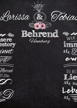 Meilensteintafel Wedding Backdrop Personalisiert Hochzeit Foto Kreide Hintergrund Chalkboard V12 Liebesbotschaft (1)