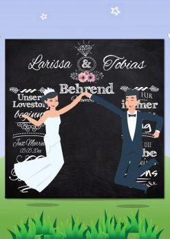 Meilensteintafel Wedding Backdrop Personalisiert Hochzeit Foto Kreide Hintergrund Chalkboard V12 Liebesbotschaft Pb