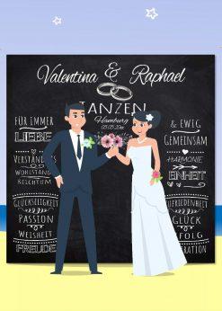 Meilensteintafel Wedding Backdrop Personalisiert Hochzeit Foto Kreide Hintergrund Chalkboard V13 Liebe Vereint Bp