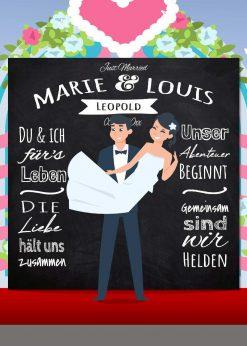 Meilensteintafel Wedding Backdrop Personalisiert Kreide Hochzeit Foto Hintergrund Chalkboard V9 Love Vintage Pb