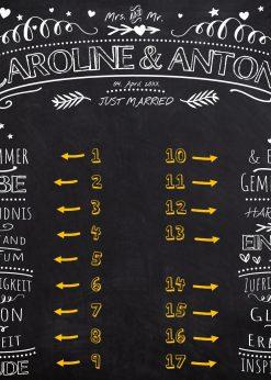 Meilensteintafel Wedding Backdrop Personalisiert Kreide Hochzeit Hintergrund Chalkboard V4 White Nummern 2